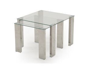 Mezzi Tempered Glass Nest of Tables