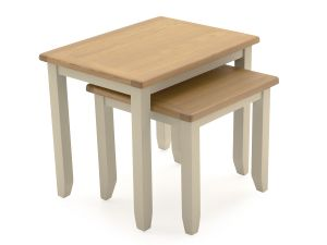 Rochelle Two Tone Wooden Nest of Tables