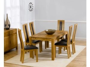 Verona 150cm Dining Table + 6 Havana Chairs Set