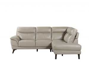 Cosimo Taupe Leather Right Corner Suite