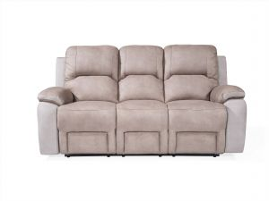 Monterray Grey 3 Seater Recliner Fabric Sofa