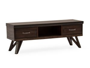 Gratiano Walnut Wooden Rectangular TV Unit
