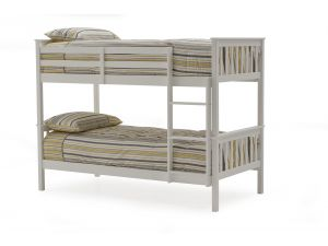 Salix White 3ft Single Wooden Bunk Bed