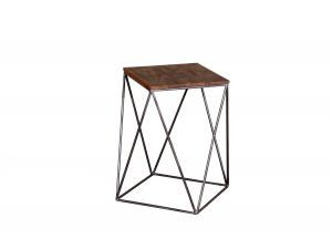 Fes Natural Distressed Wooden Drink Table