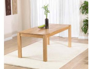 Verona Solid Oak Square Dining Table in a Fingerjoint Style Large