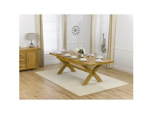 Canterbury Extending Solid Oak Waxed Dining Table Extends to 240cm