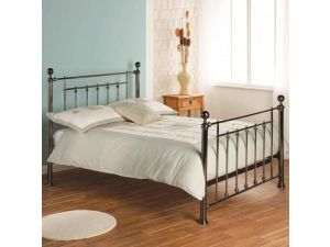 Limelight Libra 4ft6 Double Chrome Metal Bed