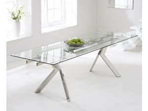 Palazzo 200 cm Glass Extending Dining Table