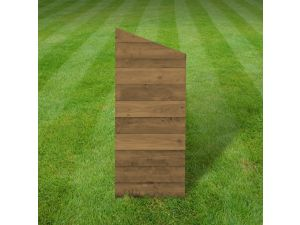 Rutland Solid 6ft Rustic Brown Wooden Log Store Partition Panel