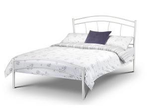 Julian Bowen Miah 4ft6 Double White Metal Bed