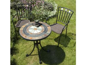 Europa Villena Table With 2 Malaga Chairs Set