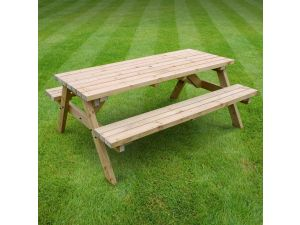 Rutland Oakham 6ft Light Green Picnic Bench