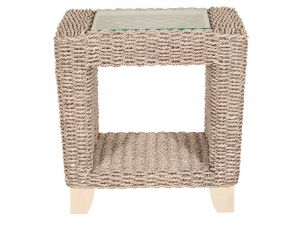 Habasco Samui Side Table in Pearl Wash