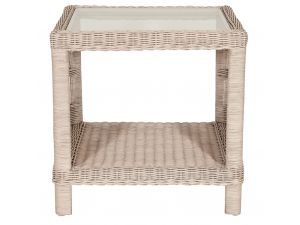 Habasco Provence Side Table in Pearl Wash