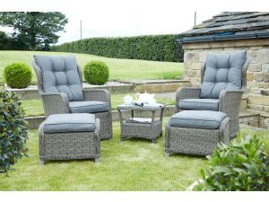 Pacific Charcoal Grey St Kitts 5pc Chair Set