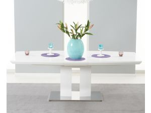 Rossini 180 MDF High Gloss Extending Dining Table