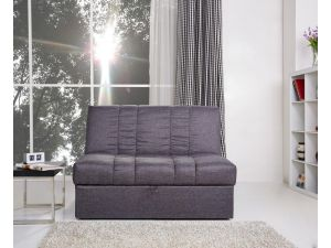 Midori Pebble Grey Fabric Large Sofa Bed