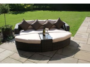 Maze Toronto Rattan Day Bed - Brown