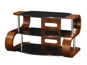 Jual JF203 Curved Walnut 110cm TV Stand