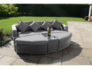 Maze Toronto Rattan Day Bed - Grey
