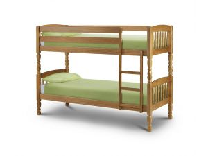 Julian Bowen Lincoln 2ft6 Small Single Pine Bunk Bed