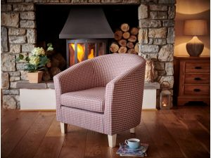 Jubilee Coral Fabric Accent Chair