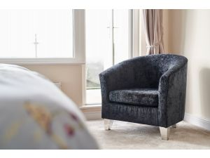 Jubilee Jet Black Fabric Accent Chair
