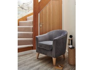 Galway Granite Fabric Accent Chair