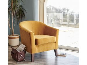 Galway Saffron Fabric Accent Chair