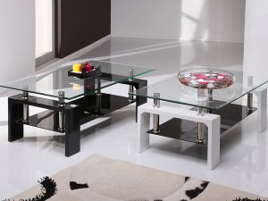 Calico White Glass Coffee Table