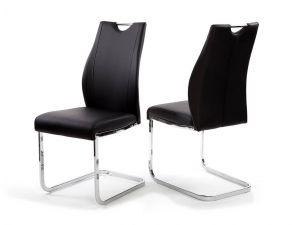 Fairmont Giorgio Leather Dining Chairs Pair