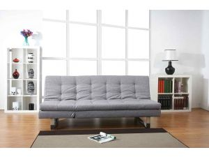 Milano Peppered Grey Fabric Sofa Bed