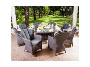 Alexander Rose Monte Carlo 6 Seater Closed Weave Armchair Set