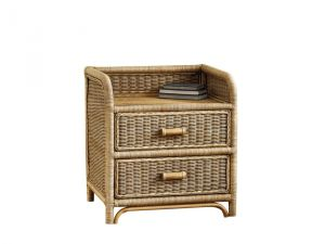 Cane Two Drawer Chest