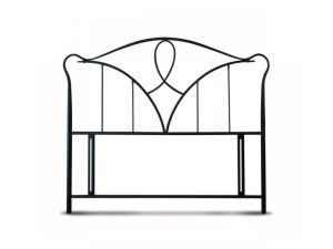 Limelight Carme 4ft Small Double Black Metal Headboard