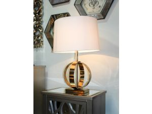Luna Gold Table Lamp With Cream Shade