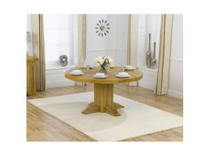 Turin Solid Oak Round Dining Table With a Waxed Finish