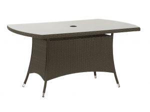Royalcraft Cannes Brown Rattan 150 X 90cm Rectangular Table