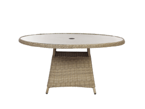 Royalcraft Wentworth 140cm Round Rattan Dining Table