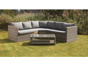 Royalcraft Wentworth Rattan 4pc Large Corner Lounging Sofa Set With Coffee Table