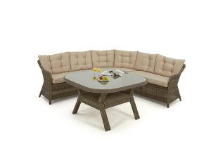 Maze Winchester Rattan Rounded Corner Sofa Dining Set