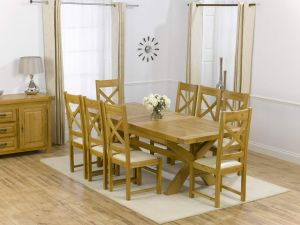 Canterbury Solid Oak Dining Table + 6 Canterbury Dining Chair Dining Set