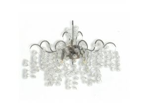 RV Astley Allura Silver Painted And Clear Glass Wall Light