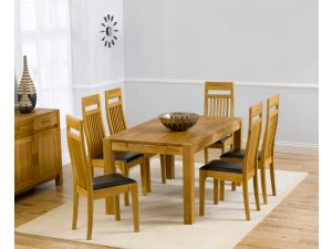 Verona 150cm Dining Table + 6 Monte Carlo Chairs Set
