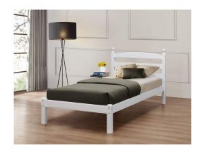 Birlea Oslo 3ft Single White Wooden Bed