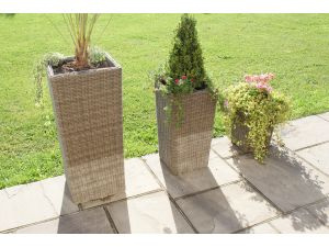 Maze Set of 3 Winchester Rattan Shaped Planters