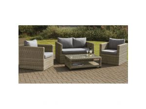 Royalcraft Wentworth Rattan 4pc Sofa Suite Set With Coffee Table