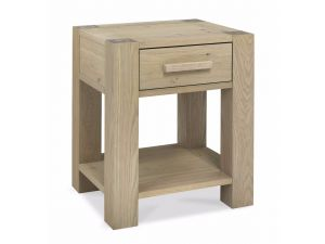Bentley Designs Turin Aged Oak Lamp Table With Drawer