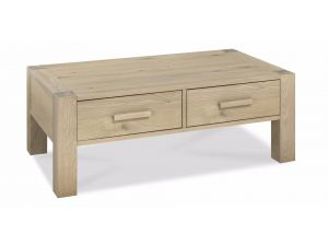 Bentley Designs Turin Aged Oak Coffee Table With Drawers
