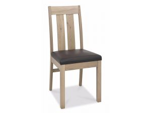 Bentley Designs Turin Aged Oak Slatted Chairs Pair